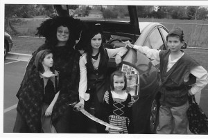 Trunk or Treat a few years ago. My favorite time of the year!!