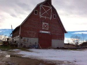 Grandpa's barn has long been torn down, this one was similar.